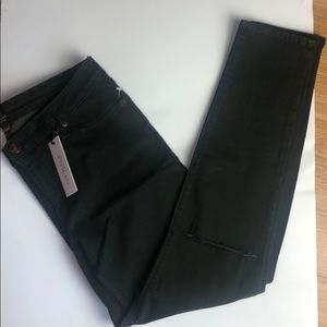 Just Black knee slit Ankle Skinny Jeans size 32